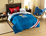 NCAA Kansas Jayhawks Twin Comforter, Sheets and Sham (5 Piece Bed in a Bag)