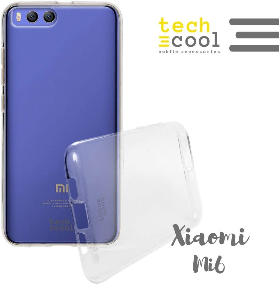 Funnytech® Funda Transparente para Xiaomi MI6 I [Gel Silicona Flexible [Ultra Slim 1,5 mm - Gran Resistencia] [Acabado Brillo con Tratamiento Anti-Huellas y Manchas]