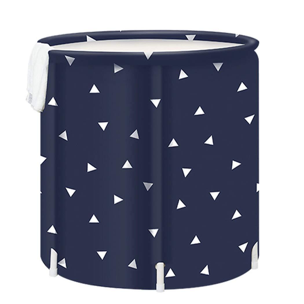 YONGYONG Black Triangle Adult Foldable Bathtub Portable Bathtub 65cm * 70cm (Color : D) by Yongyong (Image #1)