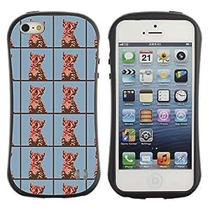 DesignCase Premium TPU / ABS Hybrid Back Case Cover Apple iPhone 5 / 5S ( cute cat )