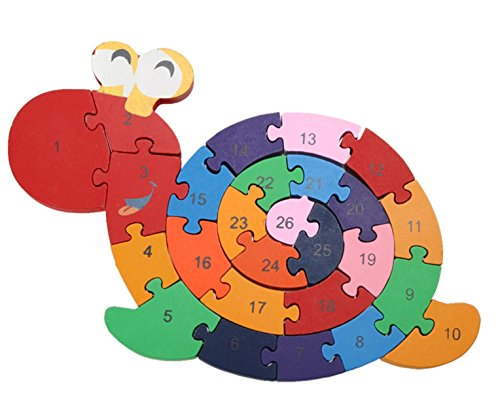 unbrand New Educational Toys Brain Game Kids Winding Snail Wooden Toys Wood Kids 3d Puzzle Wood Brinquedo Madeira Kids Jjigsaw Puzzles