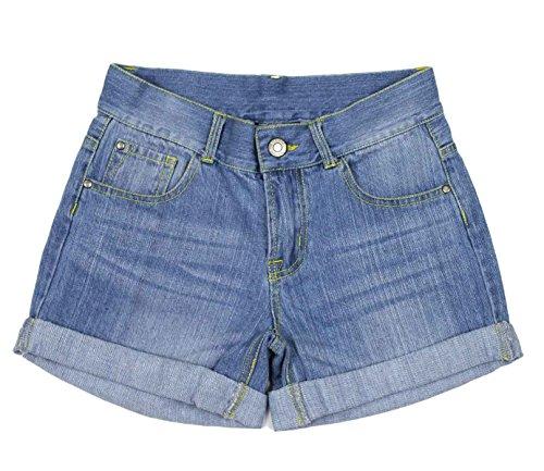 Bienzoe Girl's Denim Shorts Size 16 (Girls Denim Shorts)