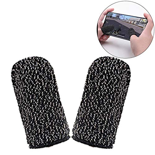 Vector Ector Gaming Touchscreen Conductive Fiber Cap Anti-Sweat Breathable Touch Finger Gloves for Mobile Phone Games Better Than PUBG Trigger