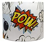 Comic Lampshade For A Ceiling Light Shade Boys Bedroom Superhero Cartoon Accessories Gifts Lamp Shade Large 12' DRUM