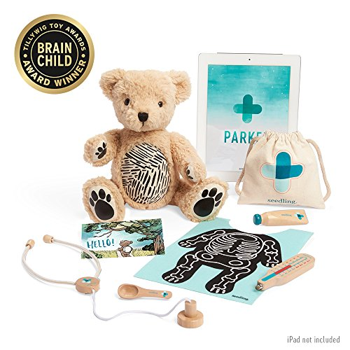 Seedling Parker: Your Augmented Reality Bear for Toddlers Ages 3-6 Learning Kit