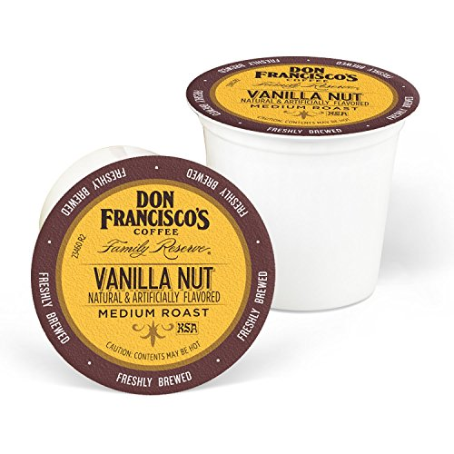 Don Francisco's Single Serve Coffee Pods. Vanilla Nut Flavored, Compatible with Keurig K-cup Brewers, 100 Count