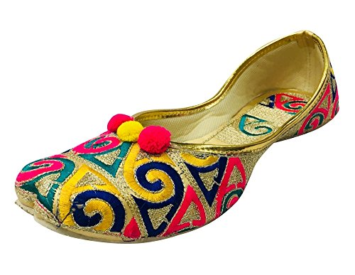 Étape N Style Multi Plat Jutti Plat Flipflops Chaussures Indiennes Khussa Pakistanais Juti