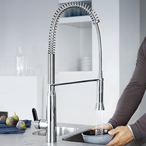 Superb Grohe 32951000 K7 Semi Pro Single Handle Pull Out Kitchen Faucet, Starlight  Chrome   Touch On Kitchen Sink Faucets   Amazon.com