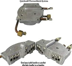 Quick Mill Thermoblock System für Pegaso 03035 Espressomaschinen mit Siebträger und Kaffeemühle