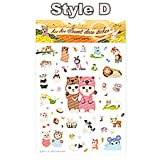 Cute Kitty Cat Phone Stickers Decorative Craft Paper Sticker Laptop Keyboard Bicycle Glass Wall Sticker Scrapbooking Photo Album^Style D.