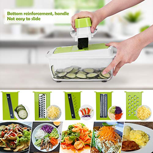 Sedhoom 23 in 1 Vegetable Chopper Food Chopper Onion Chopper Mandoline Slicer w/Large Container, 2nd Generation