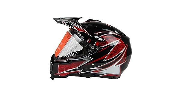 Woljay Dual Sport Off Road Motorcycle helmet Dirt Bike ATV D.O.T certified XL, White