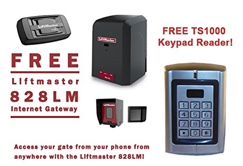 Gateway Chassis (LiftMaster RSL12U Residential / Light Commercial Slide Gate Operator - Free Liftmaster 828LM Internet Gateway & FREE TS1000 Keypad Reader!)