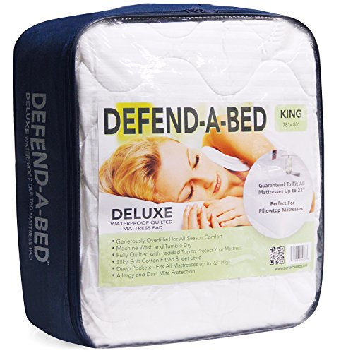 Defend-A-Bed Deluxe Quilted Waterproof Mattress Protector, Twin Extra Long Size