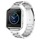 Fitbit Blaze Band - Peyou® [Stainless Steel Strap] [Polished Classic Metal Buckle] Watch Strap For Fitbit Blaze Fitness Watch 2016 Release, Come with A Tool to Adjust The Bracelet Easily