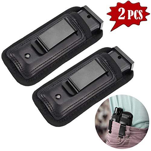 TraGoods 2 Pack Waistband Pistol Handgun Holster Pouch, Gun Ammunition Holsters, Handgun Ammo Pouch