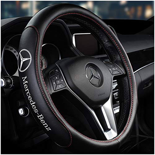 Car Steering Wheel Cover, B-Class C-Class c200le300lGLC-class GLC-Class GLE-Class Mercedes-Benz Leather Steering Wheel Cover,A