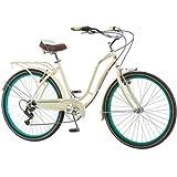 """26"""" Schwinn Fairhaven Womens 7-Speed Cruiser Bike, Cream"""