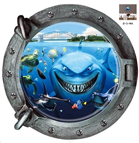 Fantastic Submarine Portholes Wall Sticker Home Decorations Kids Sealife Coral Shark Fish Boat Scuttles Decals Mural Art Nursery^.design - Nyc Design Japanese Store