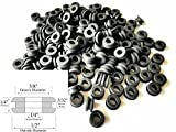 Lot of 100 Rubber Grommets 1/4 Inside Diameter - 1/4 Thick - Fit 3/8 Panel Hole
