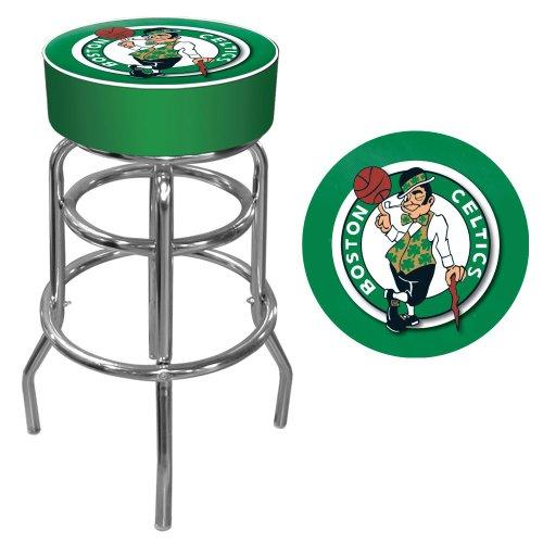 NBA Boston Celtics Padded Swivel Bar Stool by Trademark Gameroom