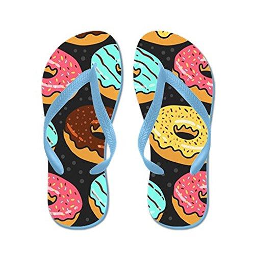 Cafepress Munkar - Flip Flops, Roliga Rem Sandaler, Strand Sandaler Caribbean Blue