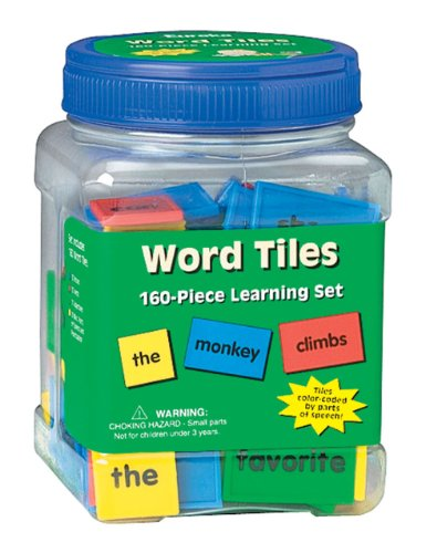 Eureka Educational Tub of Word Tiles Classroom Supplies for Teachers,160 pc