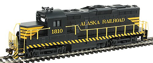 Walthers, Inc. Standard DC Alaska Railroad #1810 Train, Black/Yellow (Life Like Diesel)