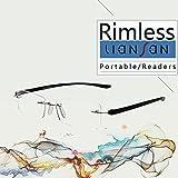 LianSan Designer 2 Pack Rimless Reading Glasses Men