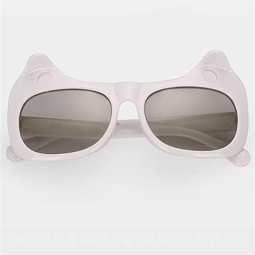 PP Pang Pang Gafas de Sol: polarizadas, para niños, sin Flash, estéreo 3D, películas, TV 3D Universal, 5-10 años, tamaño: 125x55mm ** (Color : Blanco): Amazon.es: Jardín