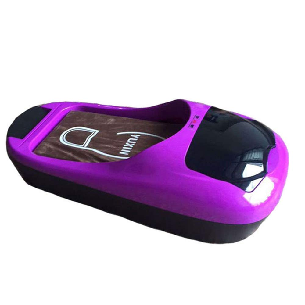 LIBWX Shoe Cover Machine, Home Automatic Shoe Machine Machine Disposable Shoe Cover Machine, Ideal for The Workshop, Hospital, Operating Room Boardroom, Executive Offices and Home,Purple