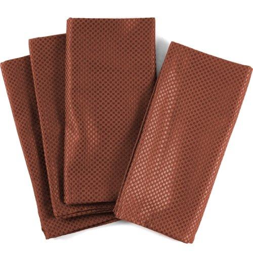 UPC 029441041274, Rusty Orange Mini-Checkered 100% Cotton Dinner Napkins, Set of 12
