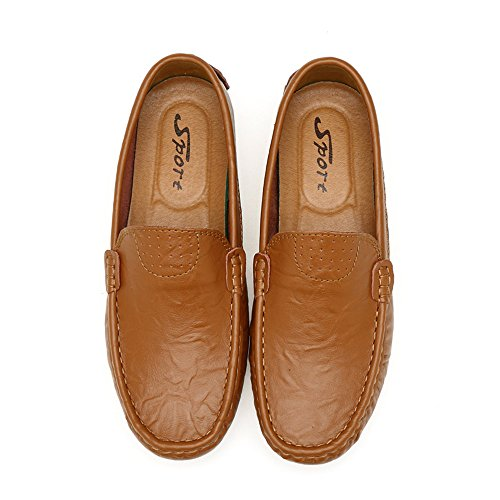 marrone On Penny Slip Scarpe da Classic Scarpe da FZUU Loafers Top Guida Mocassini Low Uomo 46qx8nC