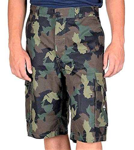 LRG Men's Core Collection Classic Cargo Short Olive Camo ()