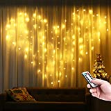 Toodour 306 LED Curtain String Lights Warm White