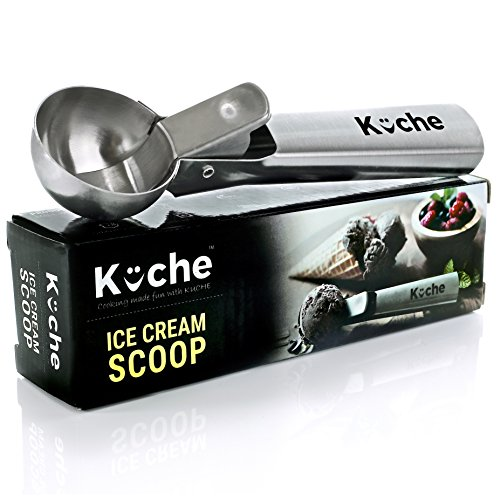 kuche-easy-trigger-stainless-steel-ice-cream-scoop-cookie-dough-and-water-melon-scoop
