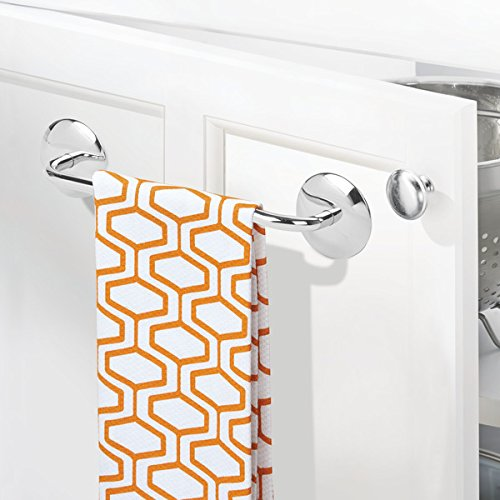InterDesign AFFIXX, Peel-and-Stick Strong Self-Adhesive Towel Bar – Steel Towel Holder for Kitchen or Bathroom - 8.5'', Polished by InterDesign (Image #2)
