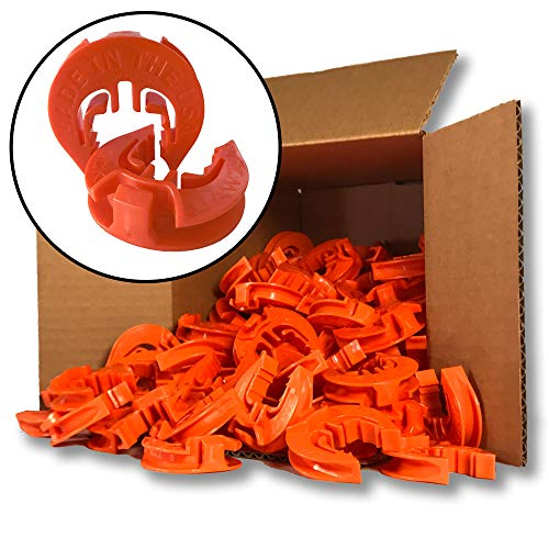 (Lock Jawz T-360 Electric Fence T-Post Insulator - Orange (Bulk Qty: 100))