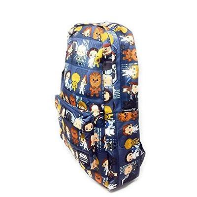 Loungefly Disney Star Wars Chibi Character Nylon Backpack: Clothing