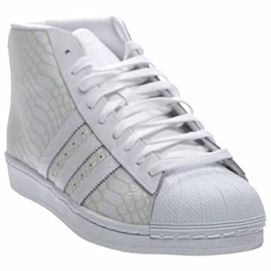 ca4d69029b adidas Mens Pro Model White/Grey Leather