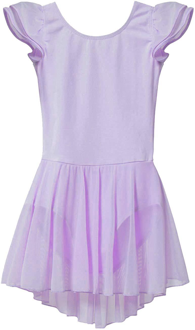 Girls Flutter Sleeve Dress Leotard 2 4 Toddler Purple