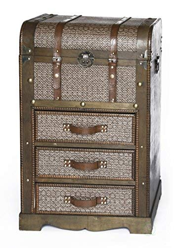 Decorative Wooden Storage Chest with 3 Drawers by Vintiquewise
