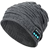 REDESS Wireless Bluetooth Beanie,Unisex Outdoor Sport Knit Hat with Stereo Speakers & Microphone