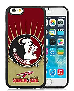 Perfect fit for your beloved phone,100% Brand New NCAA Atlantic Coast Conference ACC Footballl Florida State Seminoles 2 Black For iPhone 6 (4.7) TPU Case