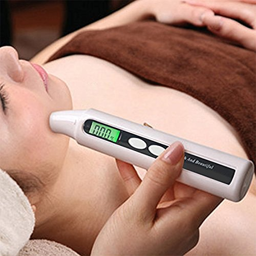 Portable Skin Facial Face Moisture Analyzer Digital Monitor Tester for Home Traveling Beauty Salon (Battery Operated) by Zinnor (Image #2)