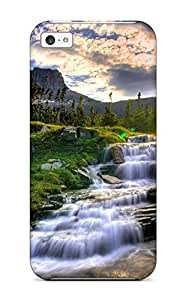 MMZ DIY PHONE CASEIphone Cover Case - Waterfall Earth Protective Case Compatibel With ipod touch 5