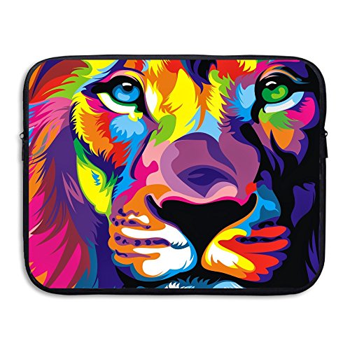 Bxse Lion Art Colorful Laptop Bag Liner Bag Laptop Computer Sleeve Portable Water Resistant Notebook Liner Package Laptop Pack Tablet Case Computer Accessories For Macbook Air Pro 13 15 Inch