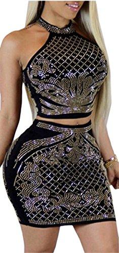 Women Midi Club Hip Sexy Sleeveless Dress Jaycargogo 1 Set Package IxdRqwwPO