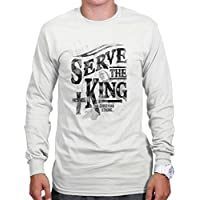 Serve The King Lord God Jesus Christ Religious Christian Long Sleeve Tee