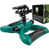 Lawn Sprinkler System - Water Garden Sprinkler Head - Outdoor Automatic Sprinklers for Lawn Irrigation System Kids - Oscillating Rotary High Impact Sprinkler System - Up To 3600 Square Feet Coverage